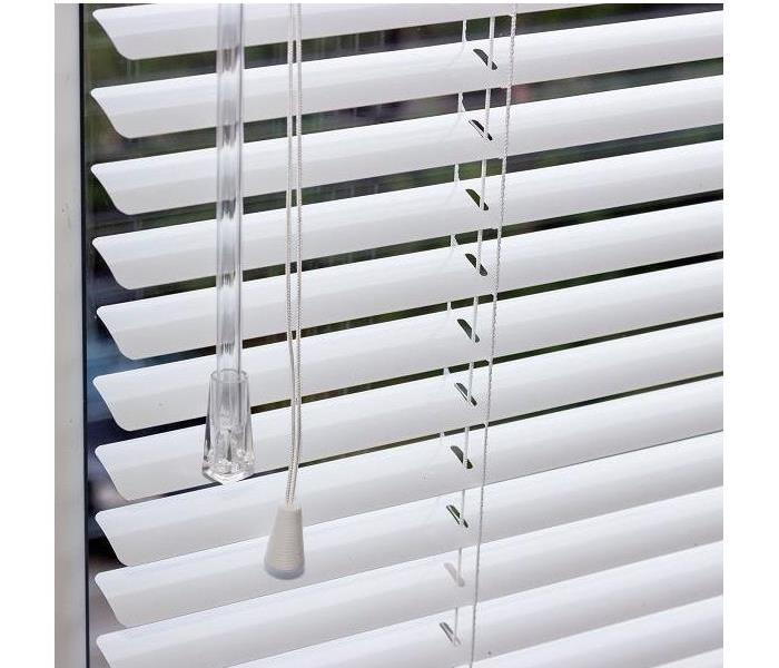 open venetian blinds